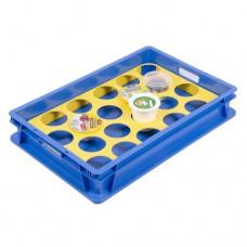 Ящик пластиковый 600х400х100 (ЯП 2.1) с ячейками