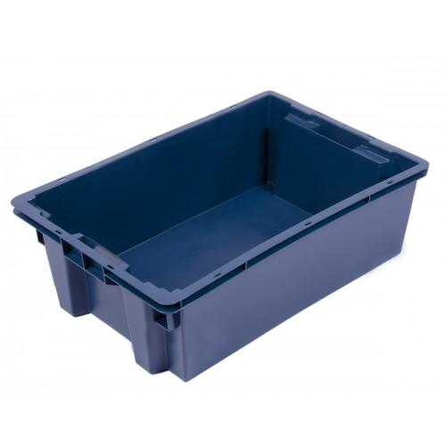Ящик пластиковый овощной 2Д 600х400х200 сплошной