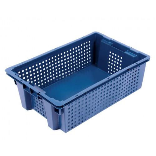 Ящик пластиковый овощной 2Д 600х400х200 сплошное дно