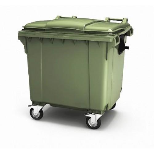 """Мусорный контейнер 1100 л. с опцией """"крышка в крышке"""""""