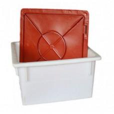Ящик под кондитерские изделия с крышкой 385х385х225