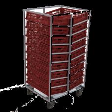 Тележка-шпилька двусторонняя для хлебных ящиков 740х465х145мм