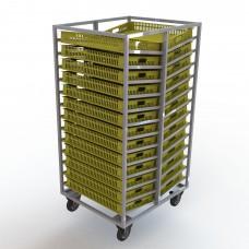 Тележка-шпилька двусторонняя для хлебных ящиков 740х465х95мм